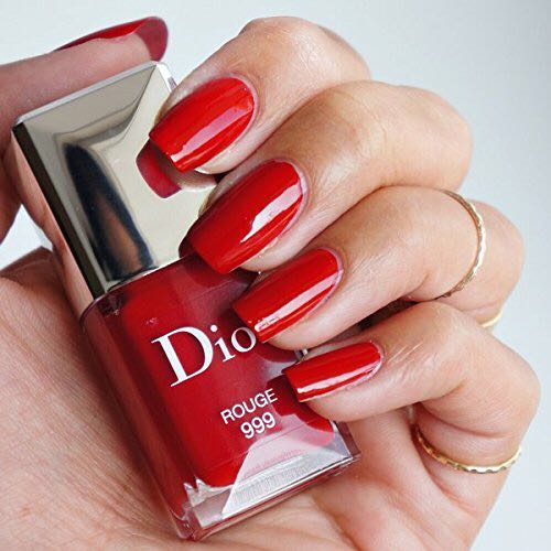 Christian Dior Vernis Nail Lacquer for Women, 999/Rouge, 0.33 Ounce ...
