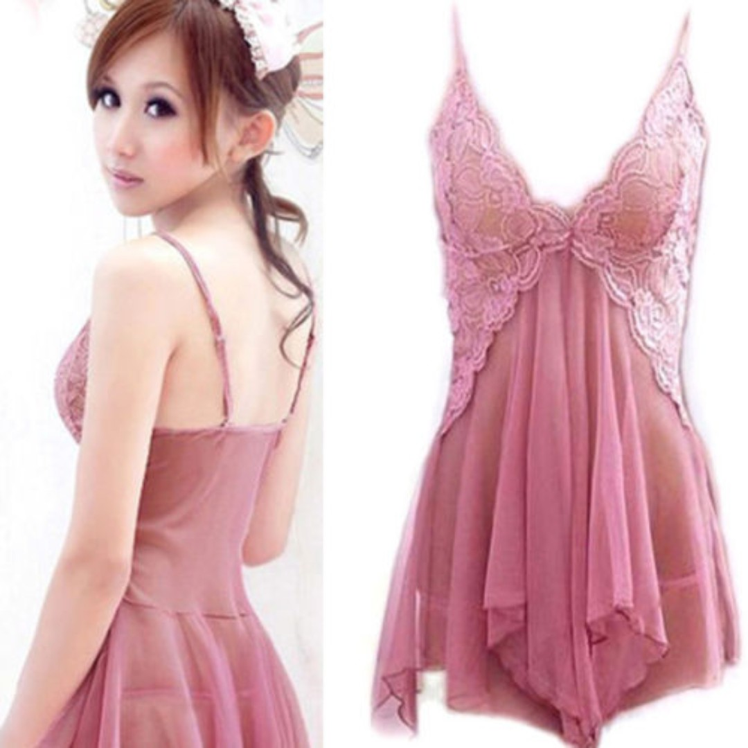 fb989a6b89 clearing stock discount free postage instock christmas gift present  anniversary birthday Women's Sexy Lace Lingerie Dress Babydoll G-string Set  ...