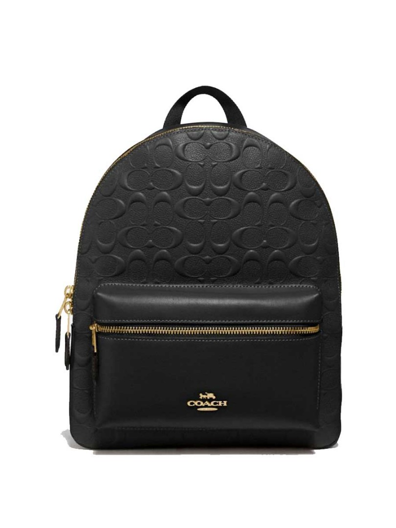 6365afe746c0 Coach medium charlie backpack in signature leather