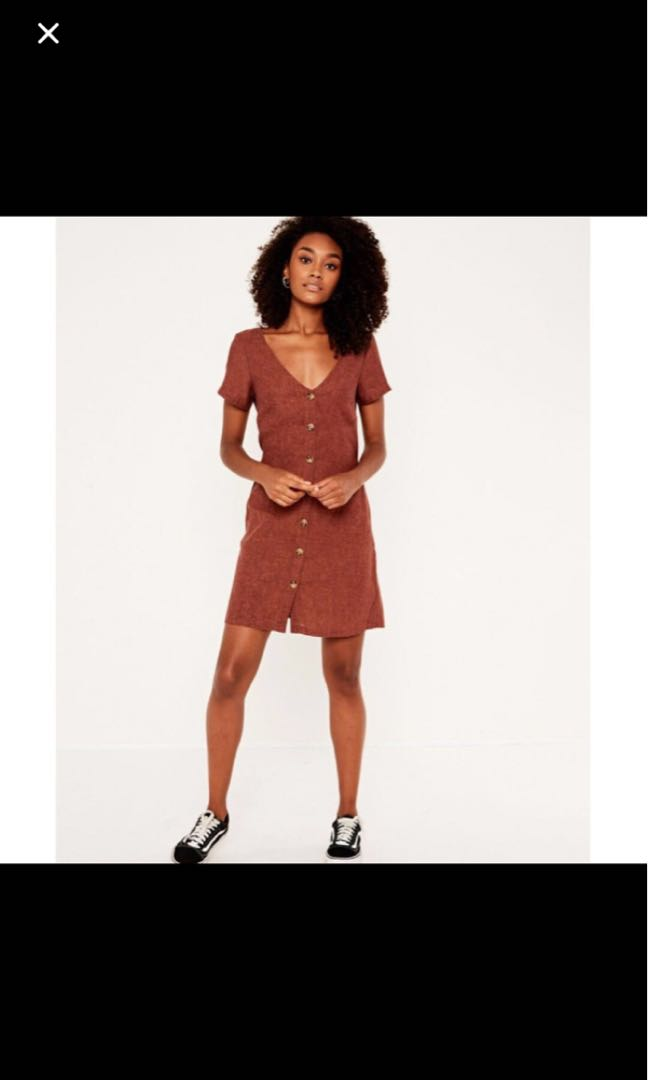 c81e67331f6 Glassons Linen Blend Button Front Dress