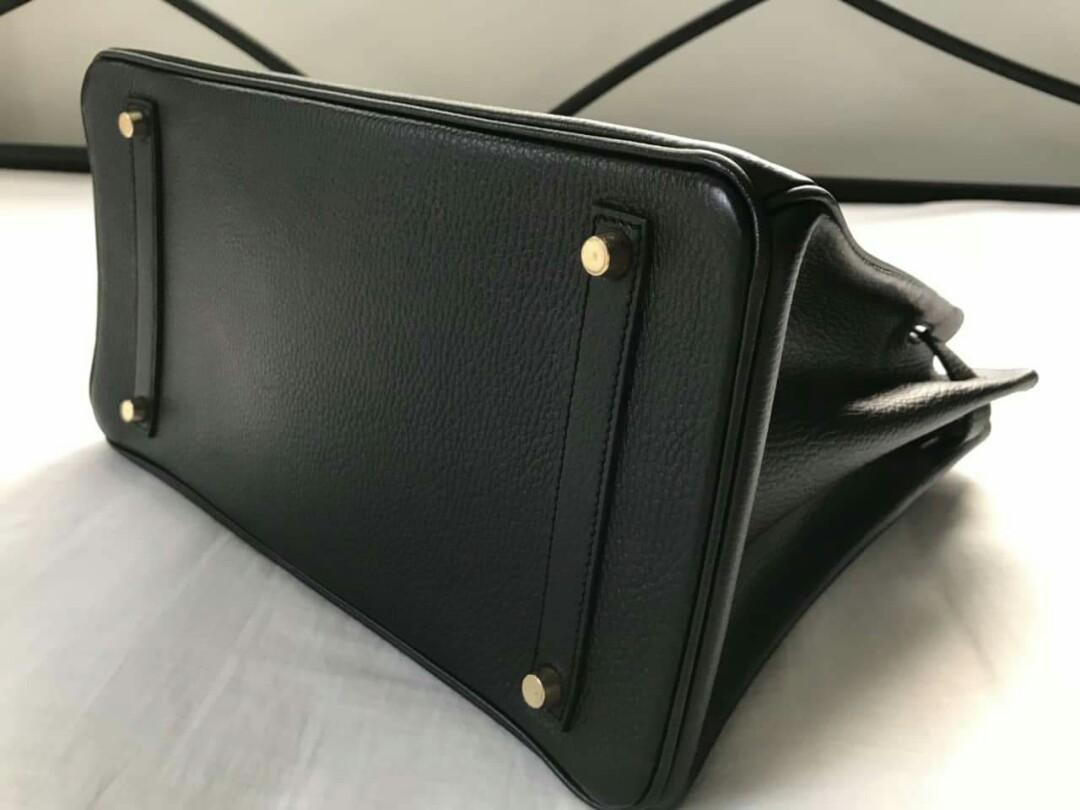 76176af1117f5 Hermes Birkin 35 Ardenness Black Gold Hardware