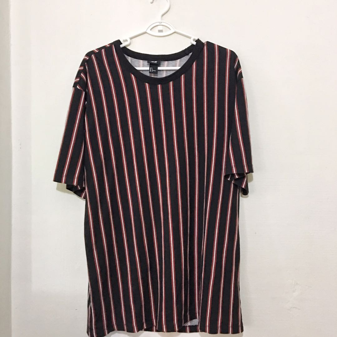 ad289cfc39915 H&M Stripes Tee, Men's Fashion, Clothes, Tops on Carousell