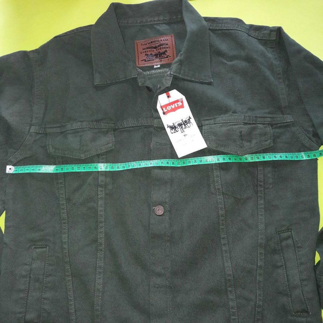 Jaket Jeans warna Hijau Army Size XL
