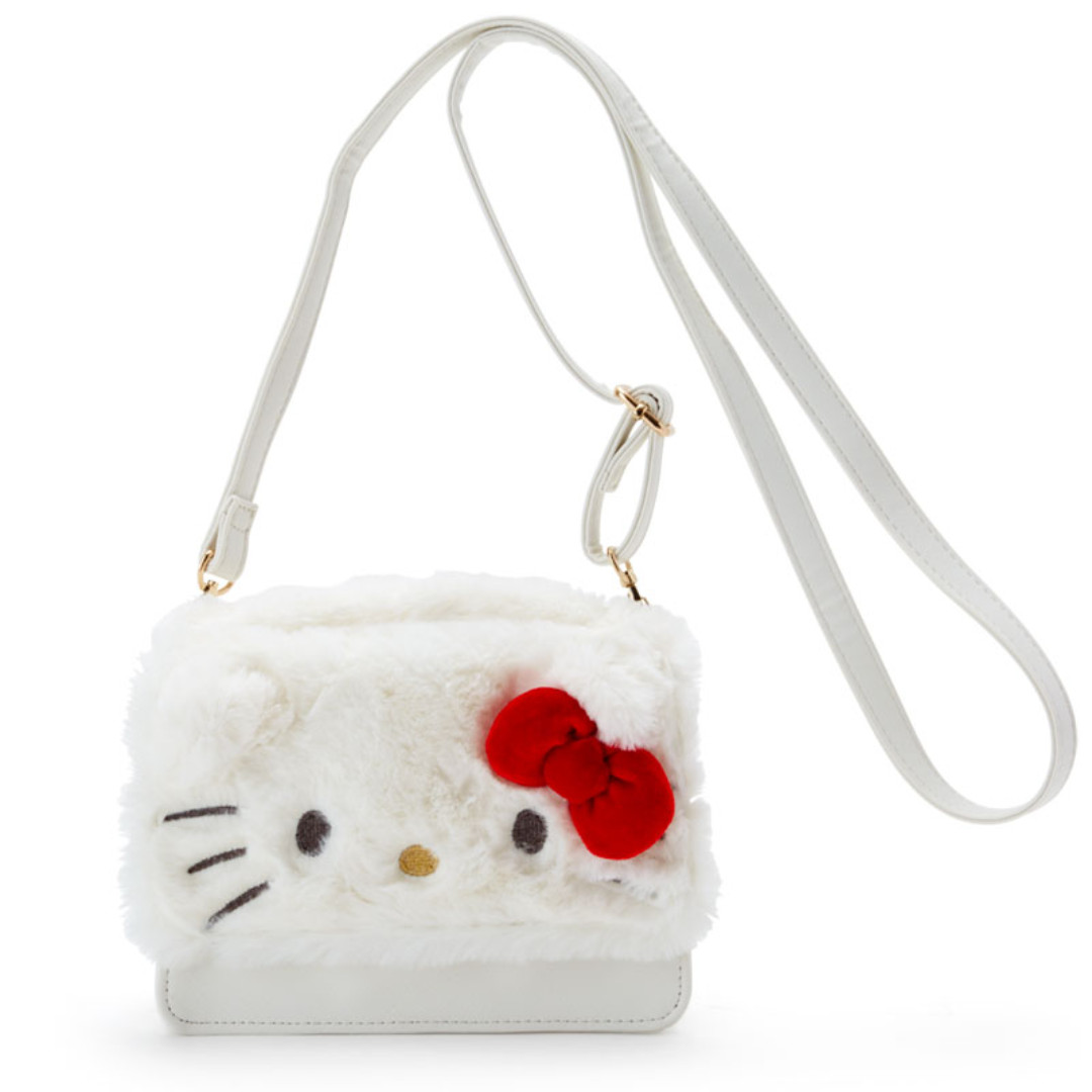 Japan Sanrio Hello Kitty Fluffy Shoulder Bag c5042d5f8d5c5