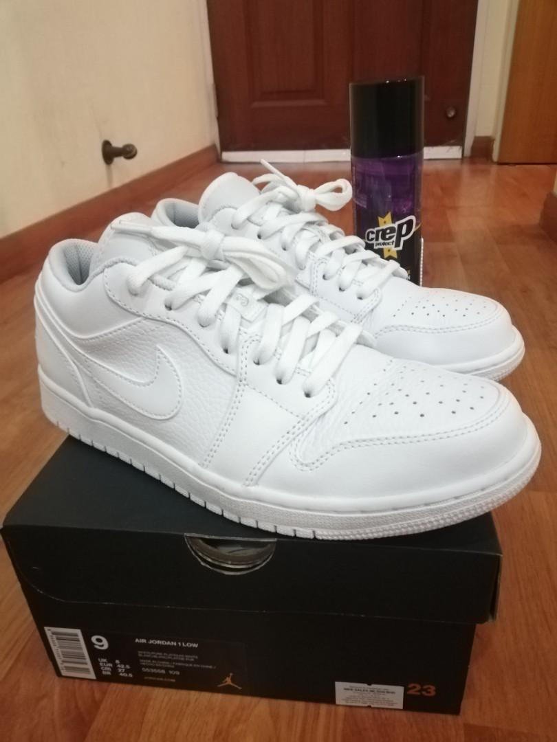 Jordan 1 Low WhitePure Platinum White