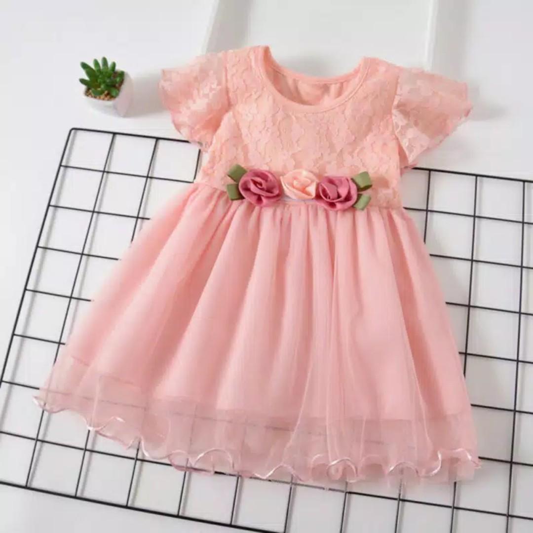 Kaylee Dress Dress Pesta Anak Perempuan Import Gaun Pesta Bayi