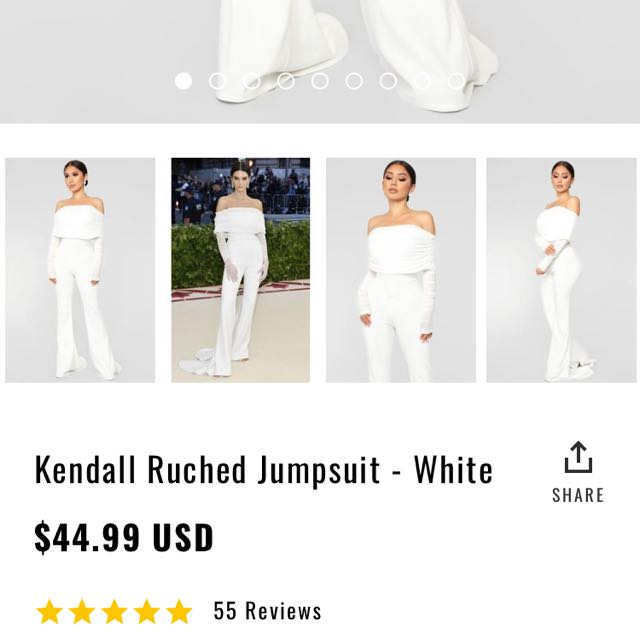 7522362cd6b9 Kendall Inspired Off-White Ruched Jumpsuit Fashion Nova