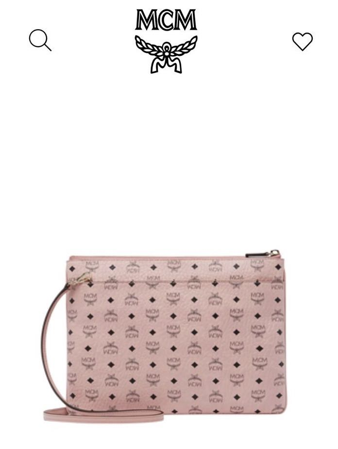 27a87475f MCM Crossbody Pouch in Visetos Original Soft Pink, Luxury, Bags ...