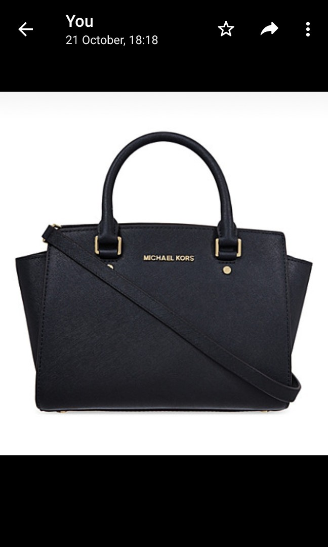 c50296c709f0 Michael Kors Selma Medium Black, Luxury, Bags & Wallets, Handbags on ...