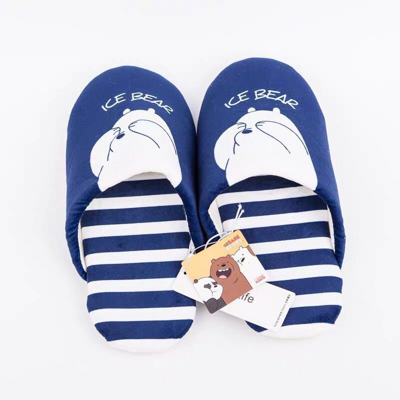 13cff40e60df Miniso We Bare Bears Bedroom Covered Slippers