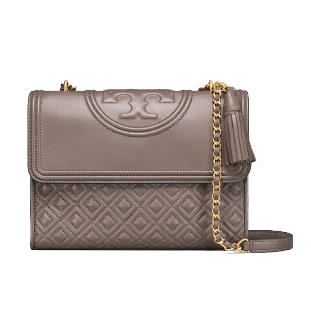 1402d341a8b NEW ARRIVAL Tory Burch Fleming Shoulder Bag (27cm) Silver Maple New ...