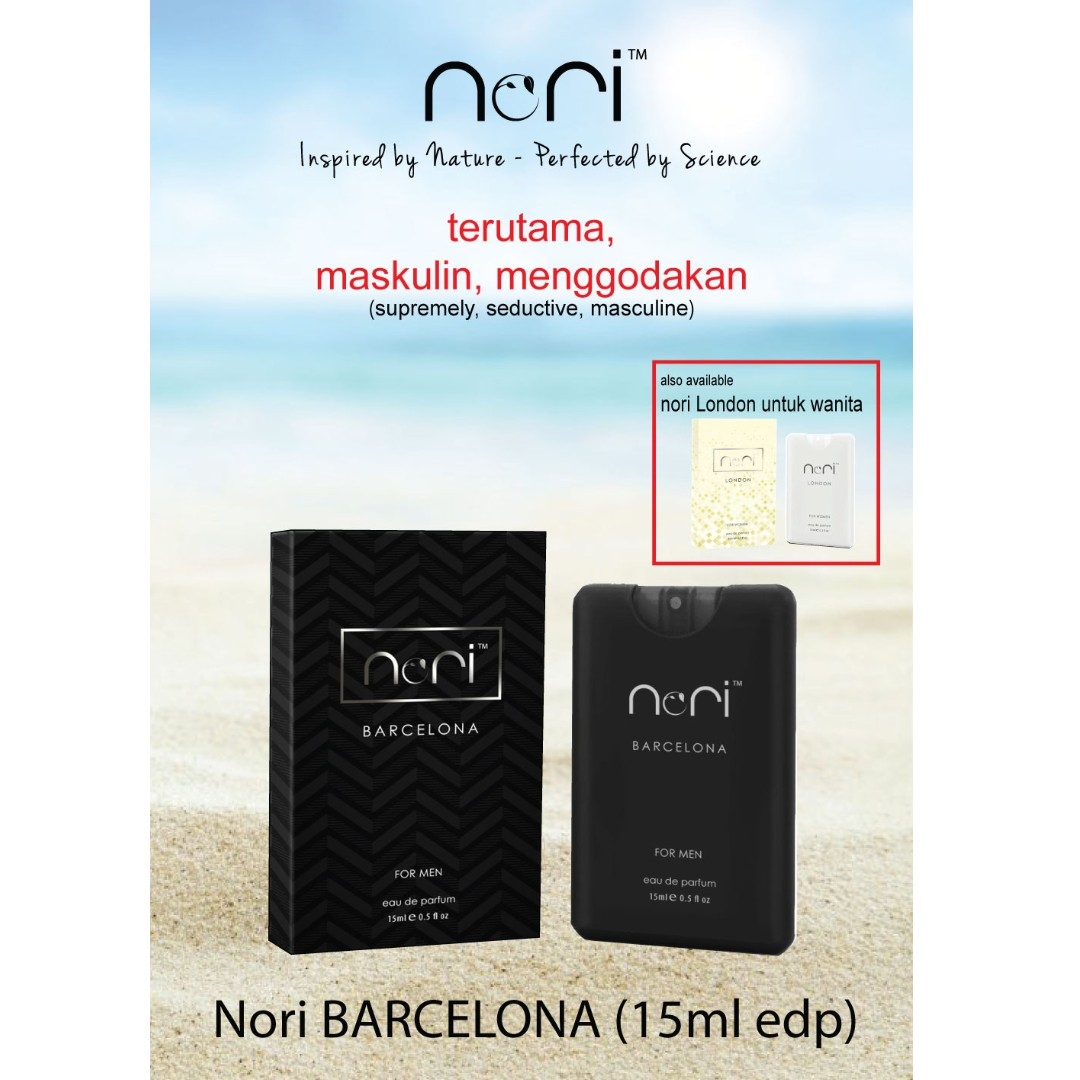 Nori Barcelona Eau De Parfum 15ml Mens Travel Pack Health