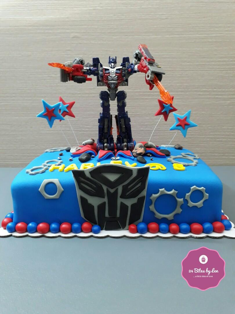 Pleasing Optimus Prime Themed Birthday Cake Transformers Food Drinks Personalised Birthday Cards Paralily Jamesorg