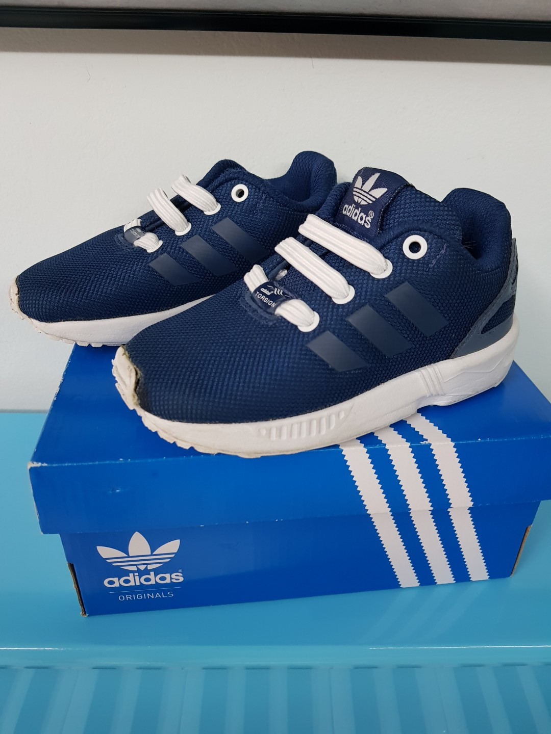 hot sales 4bc71 7309a Original adidas Zx Flux EL I for kids