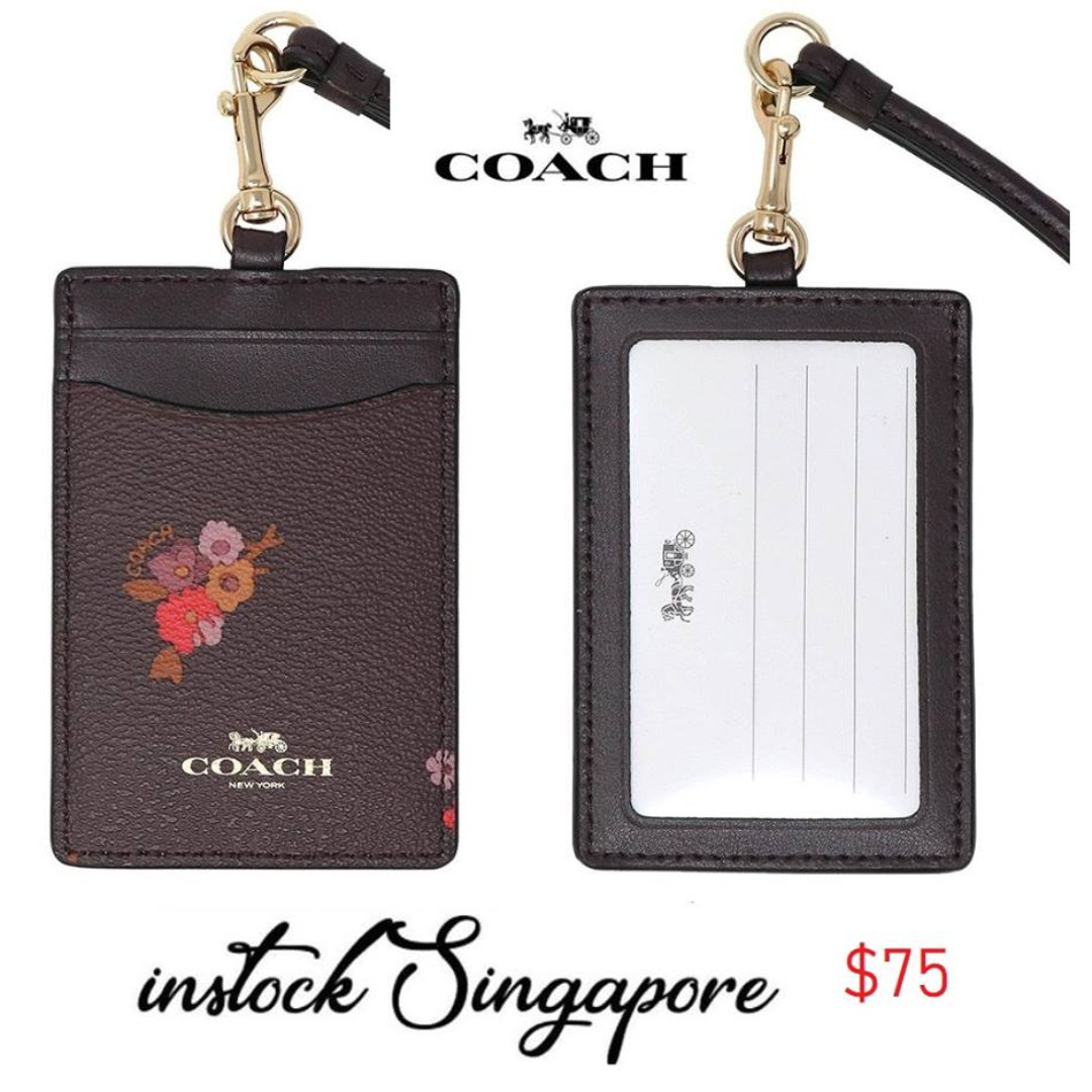 da180e1b75a2 READY STOCK authentic new Coach ID LANYARD WITH BABY BOUQUET PRINT ...