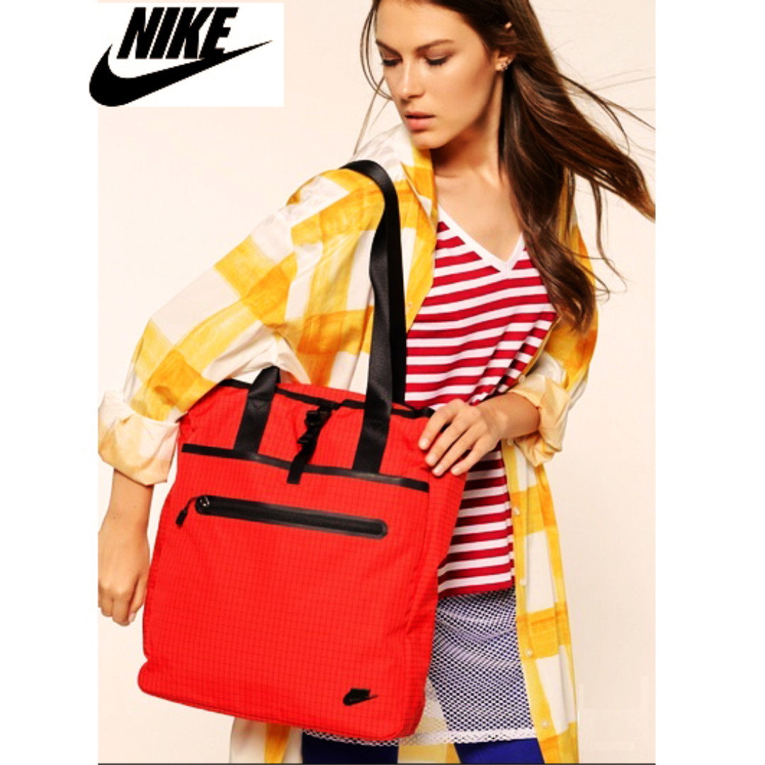 5c9d27645af8 SALE Bnew Authentic Nike Red Cascade Karst Gym Daily Tote Bag ...