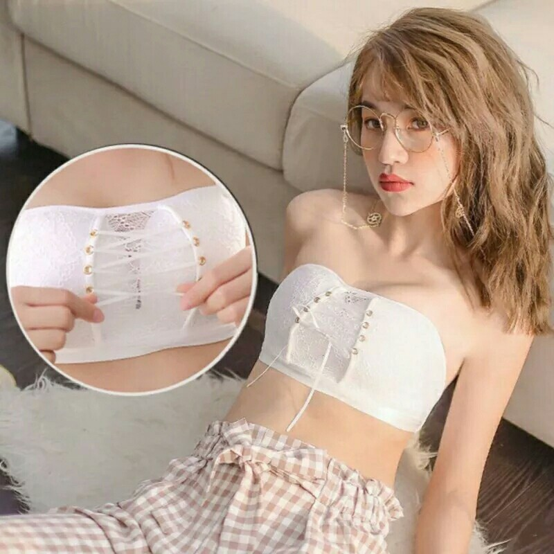 15dd14ec10 Sexy Strapless Invisible Bras Women Lace Push up Bra Wire Free Girls ...