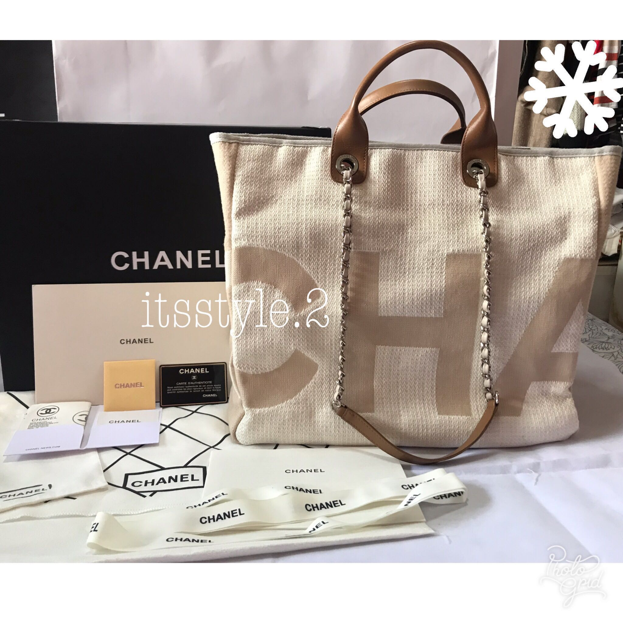 45e27fa0882f *SOLD*Chanel Deauville Tote Bag, Luxury, Bags & Wallets, Handbags on  Carousell