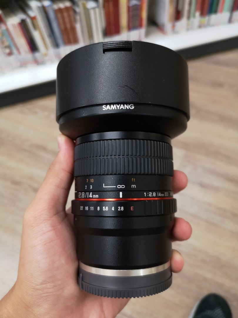 Sony Samyang 14mm F28 Super Wide Angle Lens Photography Lenses On