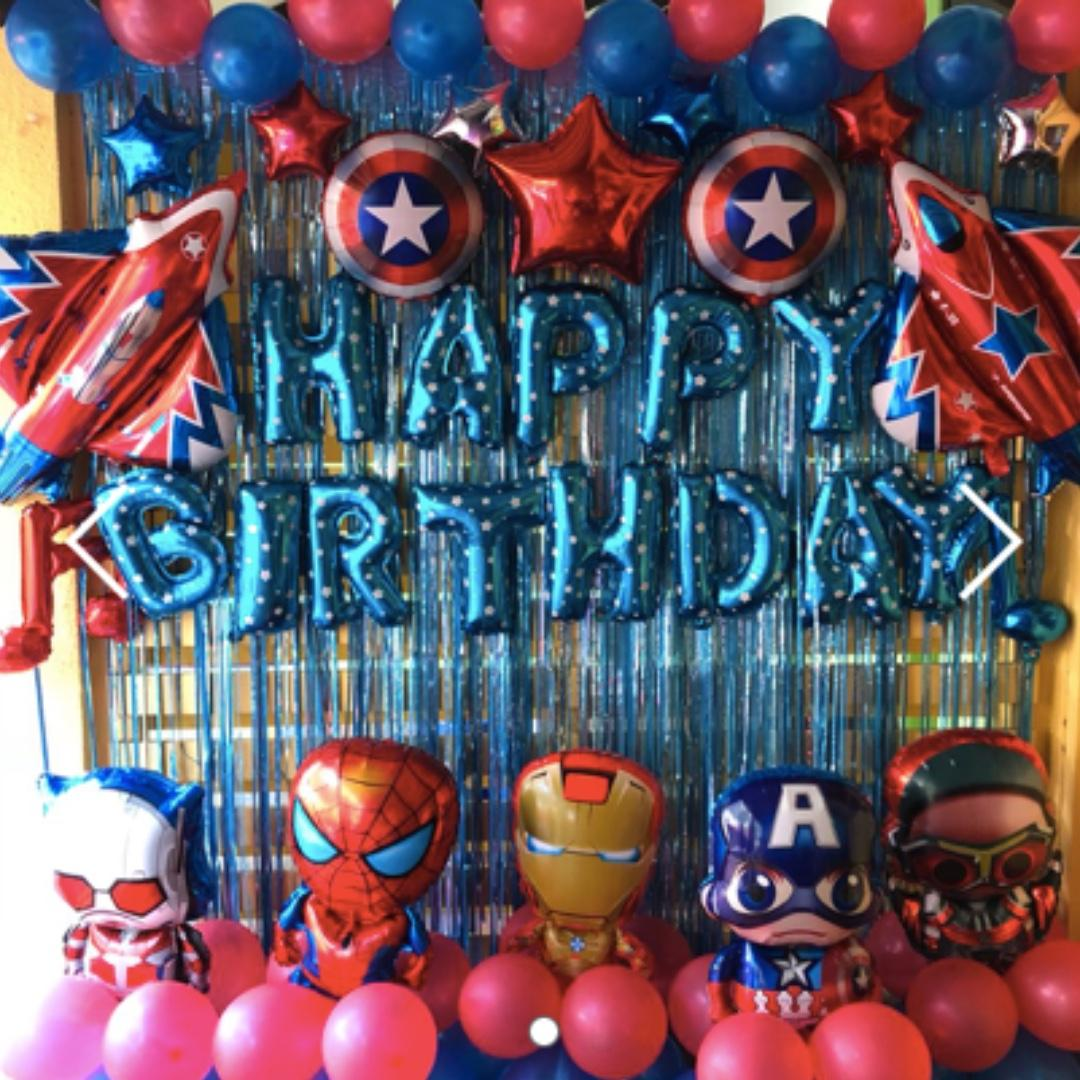 Spider Man, Iron Man, Captain America Balloon Set Avengers