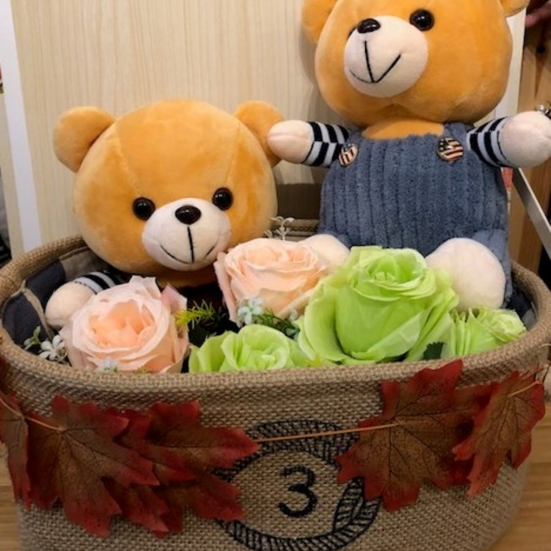 & Teddy bear gift basket Toys u0026 Games Stuffed Toys on Carousell