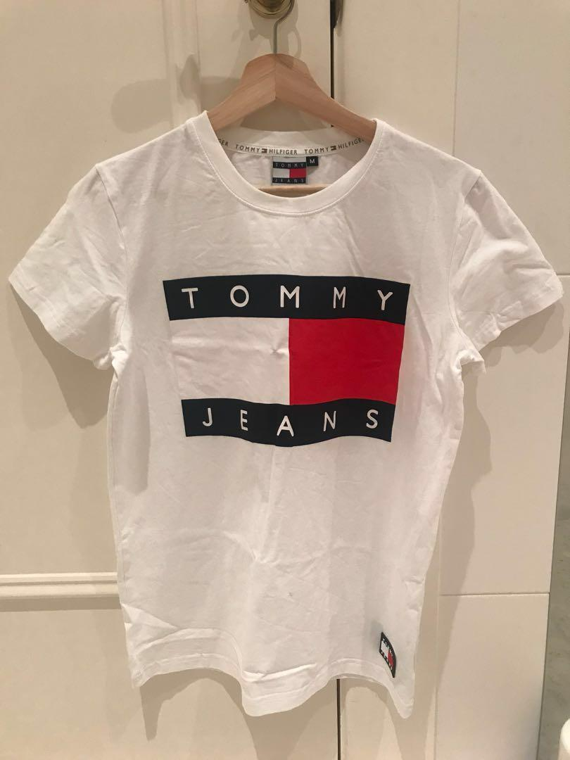 Tommy jeans logo white tee
