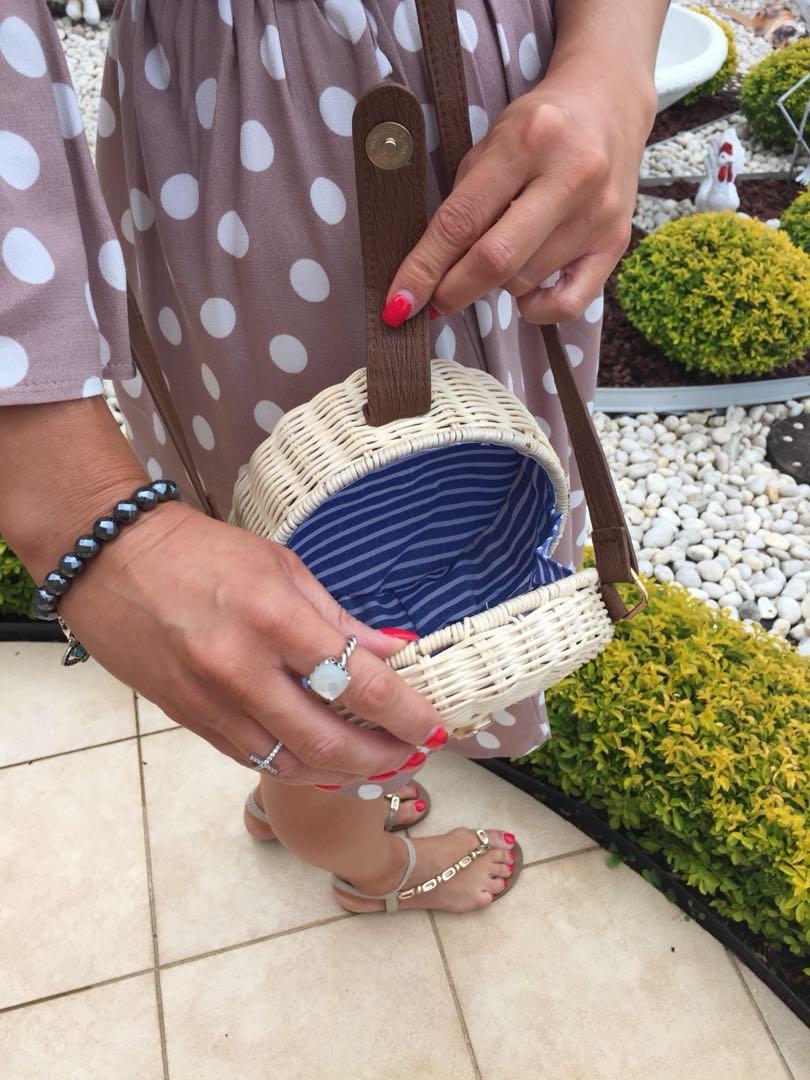 Women Bali Rattan Beach Crossbody Bag