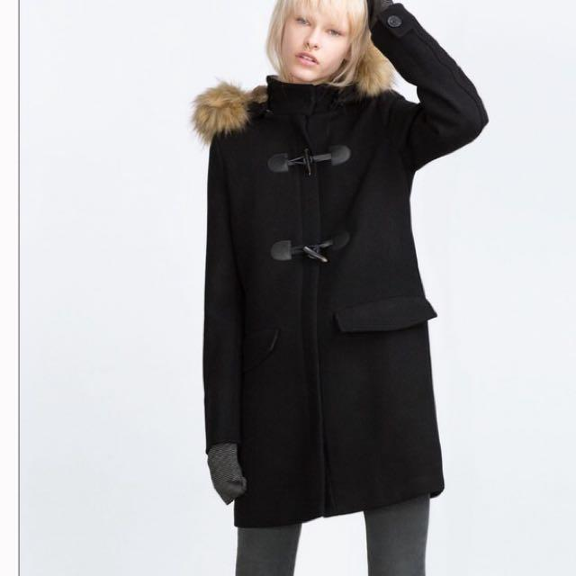 Zara Dufflecoat With Fur