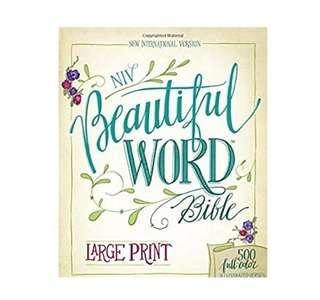 ~READY STOCK~ BN NIV, Beautiful Word Bible, Large Print, Hardcover: 500 Full-Color Illustrated VersesIllustrated, Large Print by Zondervan