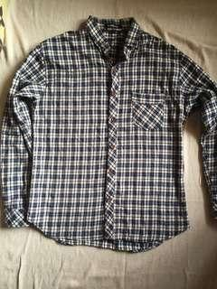 Kemeja Flanel Black One Local Brand Ukuran L