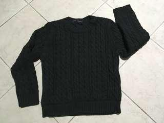 Thick double layer sweater for winter