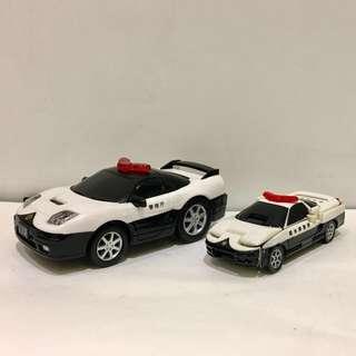兩部 Honda NSX-R police car - Bandai tomica tomy Hotwheels hot wheels vtec transformers Q版 變形金剛車仔
