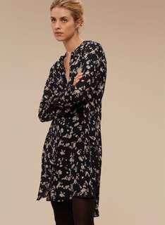 Aritzia Floral Bossut Dress Size Small