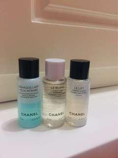 Chanel sample set lotion make up remover