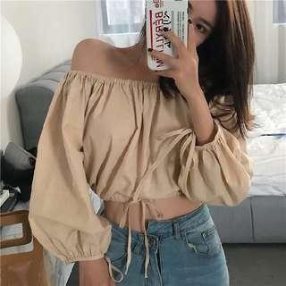 🆕 READY STOCK OFF SHOULDER TOP