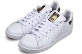 Adidas Original Stan Smith Gold 花柄