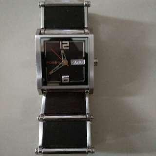 Fossil Mens Wood Inlay watch