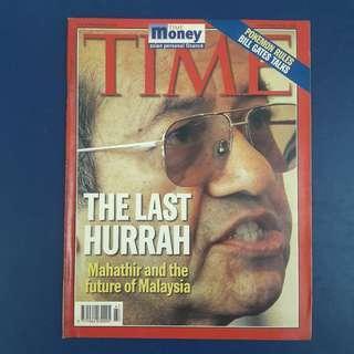 Time Magazine Nov 22 1999 - Dr Mahathir Mohamad