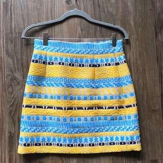 Zara Tribal Embroidered Brocade Skirt