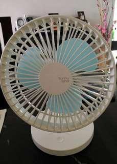 """7""""  Powerful Strong Wind Wireless Rechargeable Mini Desk Fan"""