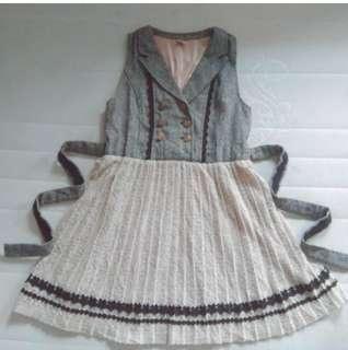 Axes Femme grey button up skirt