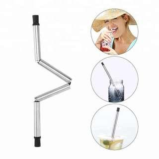 Stainless Steel Folding Portable Travel Straw