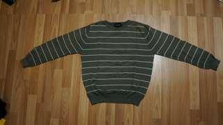 Ambrogio Crewneck Sweater Striped Hijau