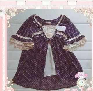 Axes Femme navy polkadot blouse