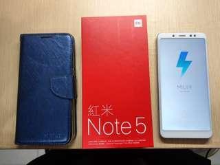 紅米 note5 4g 64gb 寶石藍 九成新 二手