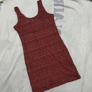 Lace Dress (Maroon)
