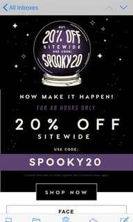 Colourpop 20% OFF 24 HOURS ONLY PREORDER