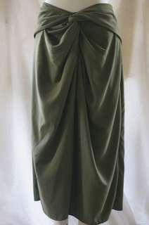 [NEW] Shopatvelvet Dark Olive Green Skirt