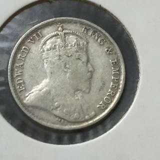 Straits 1903 5 Cents.