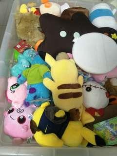Clearance sale.  Plushies,  Dolls,  Crafts,  etc